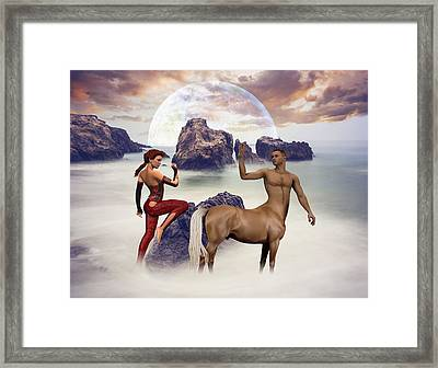 Unexpected Departure Framed Print