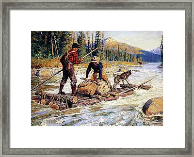 Unexpected Game Framed Print by Philip R Goodwin