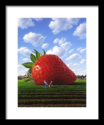 Strawberry Framed Prints