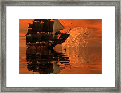 Unexplored Waters Framed Print by Claude McCoy