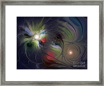 Framed Print featuring the digital art Unfading by Karin Kuhlmann