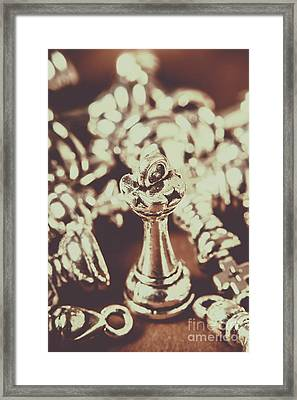 Framed Print featuring the photograph Unfallen Tower Of The Chess Game by Jorgo Photography - Wall Art Gallery