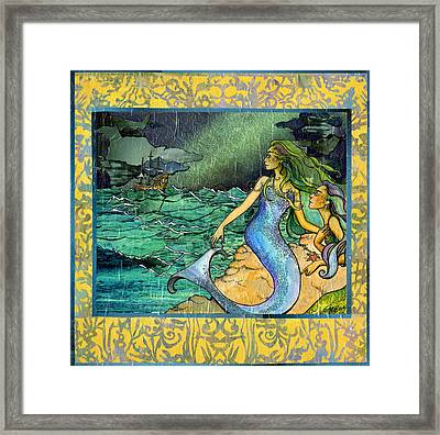 Unfeeling Fishes Framed Print
