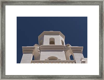 Unfinished Bell Tower - Mission San Xavier Del Bac - Tucson Arizona Framed Print by Jon Berghoff