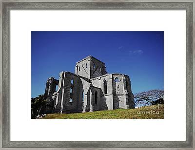 Unfinished Church In Bermuda Framed Print