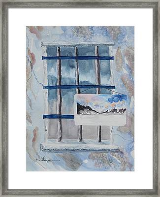 Unfinished Life Unfinished Painting 2 Framed Print by Warren Thompson