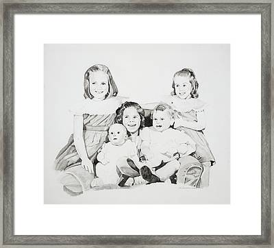 Unfinished Sisters Framed Print by Pat Saunders-White