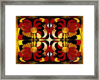 Unfolding Fantasies Of Abstract Bliss By Omashte Framed Print by Omaste Witkowski