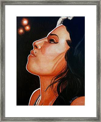 Framed Print featuring the painting Unforgettable Amy by Al  Molina