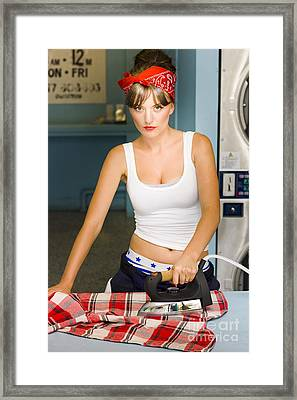 Unhappy Housewife Framed Print by Jorgo Photography - Wall Art Gallery