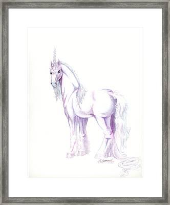Unicorn Framed Print by Christine Winters