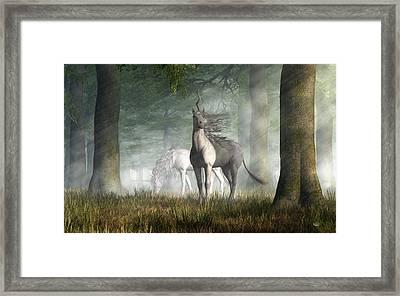 Unicorn Framed Print by Daniel Eskridge