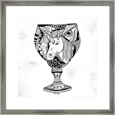 Unicorn Goblet Framed Print by Kenal Louis