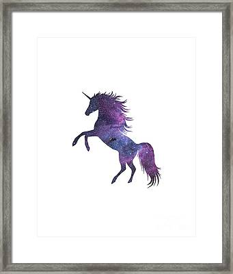 Unicorn In Space-transparent Background Framed Print by Jacob Kuch