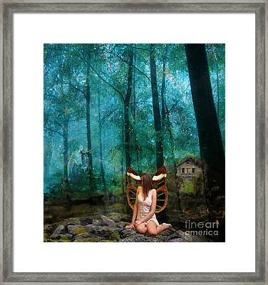 Unicorn In The Forest Framed Print by Patricia Ridlon