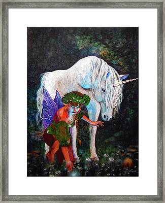 Unicorn Magic Framed Print by Michael Durst