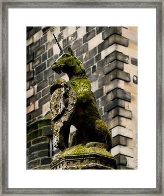 Unicorn Of Scotland Framed Print