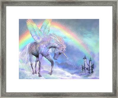 Unicorn Of The Rainbow Framed Print
