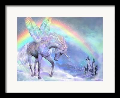 Iridescent Unicorn Framed Prints