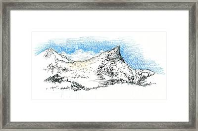Unicorn Peak In September Framed Print by Logan Parsons