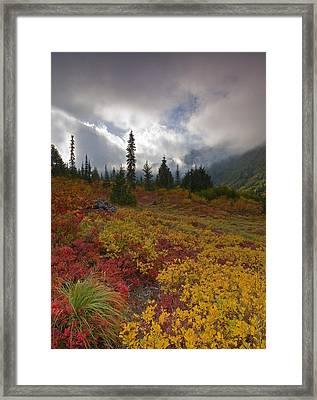 Unicorn Peak Framed Print by Mike  Dawson