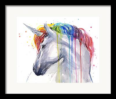 Unicorn Art Framed Prints