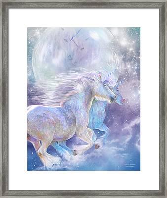 Unicorn Soulmates Framed Print by Carol Cavalaris