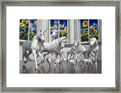 Unicorns Framed Print