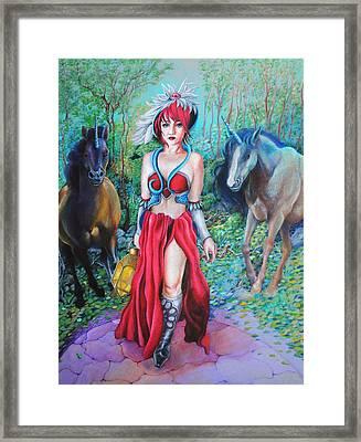 Unicorns Framed Print by Sonja Funnell