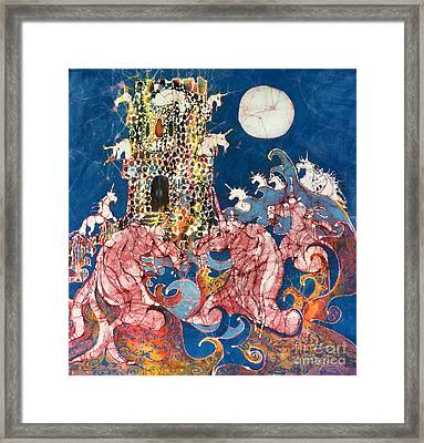 Unicorns Take Castle Framed Print