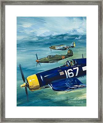 Unidentified Aircraft Framed Print by Wilf Hardy