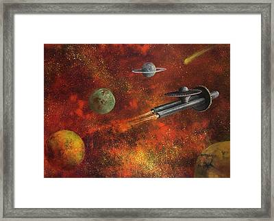 Unidentified Flying Object Framed Print