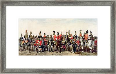 Uniforms Of The British Army Framed Print by English School