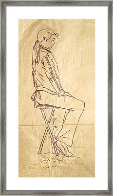 Unimpressed Framed Print by Radical Reconstruction Fine Art Featuring Nancy Wood