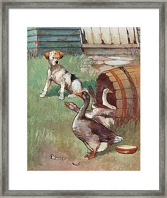 Uninvited Guests Framed Print by English School