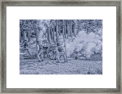 Union Cannon Civil War Toned Framed Print