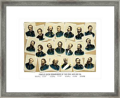 Union Commanders Of The Civil War Framed Print by War Is Hell Store