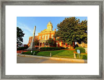 Union County Court House 10 Framed Print