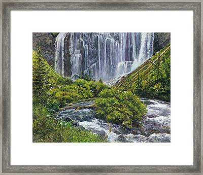 Union Falls Framed Print