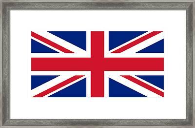 Framed Print featuring the digital art Union Flag by John Lowe