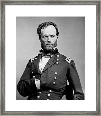 Union General William Tecumseh Sherman 1865 Framed Print