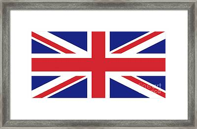 Union Jack Ensign Flag 1x2 Scale Framed Print