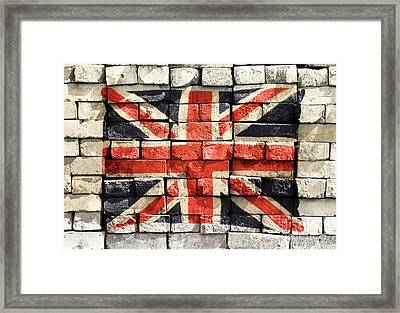 Union Jack Graffiti Framed Print