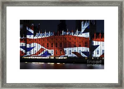 Union Jack On Parliament Framed Print