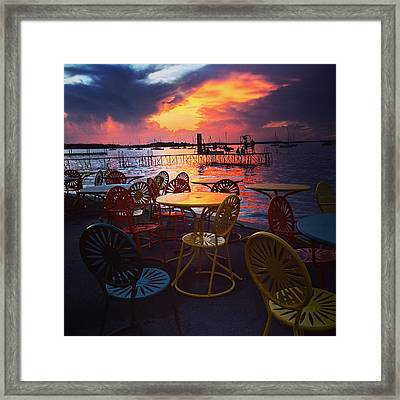 Union July Sunset Framed Print