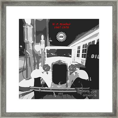 Union Made Framed Print by Barbie Corbett-Newmin