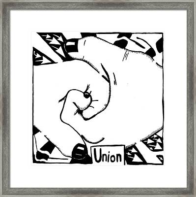 Union Maze Framed Print by Yonatan Frimer Maze Artist