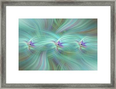 Union Of Souls. Mystery Of Colors Framed Print by Jenny Rainbow