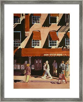 Union Oyster House Of Boston Framed Print by Walt Maes