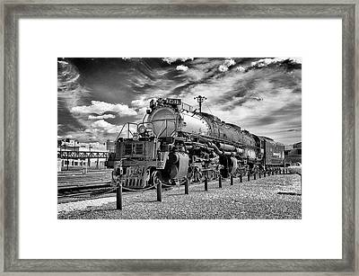 Framed Print featuring the photograph Union Pacific 4-8-8-4 Big Boy by Paul W Faust - Impressions of Light